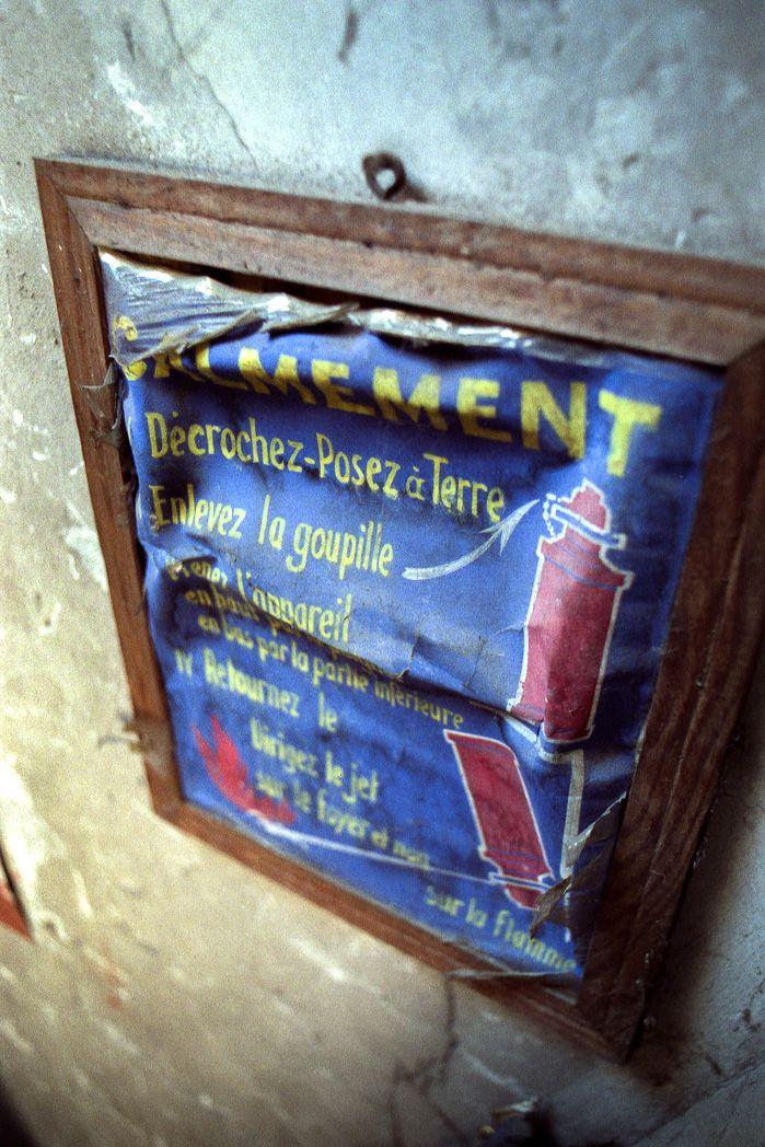 grenier panneau extincteur