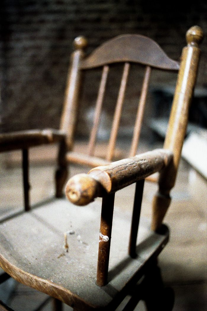 Grenier chaise haute enfant